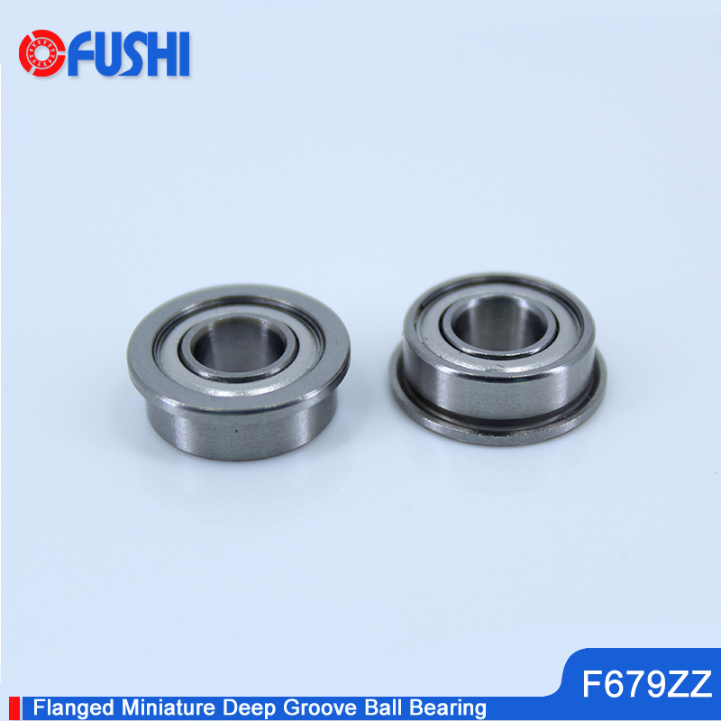 F679ZZ Flange Bearing 9x14x4.5mm 10PC Double Shielded High Quality Flanged F679 Z ZZ Ball Bearings F679-2Z F679Z 75mm aperture high quality deep groove ball bearing 6215 75x130x25 ball bearing double shielded with metal shields z zz 2z
