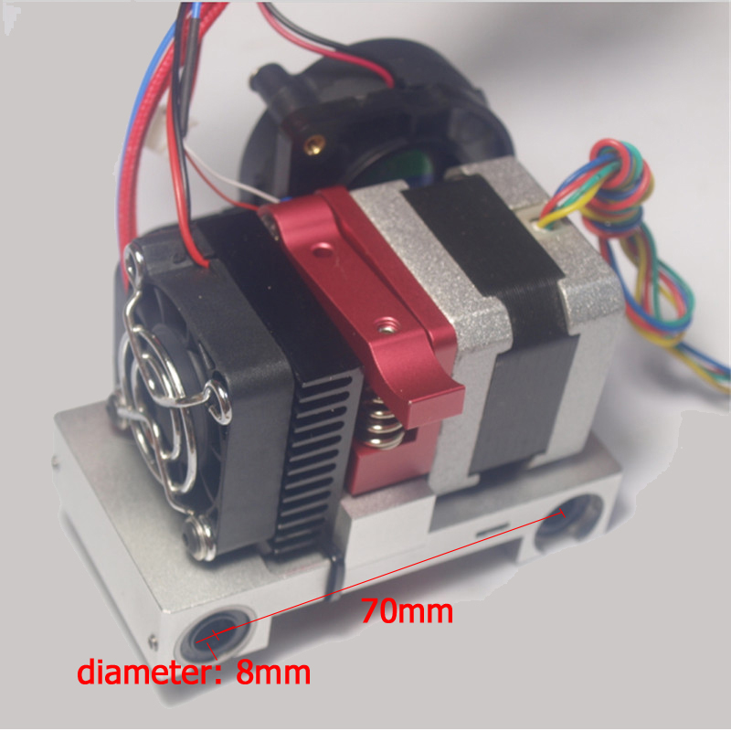 3D printer extruder printer head completely set  Compatible with Makerbot replicator 1.75mm filament 0.4mm nozzle CTC metal wanhao big sale duplicator 4s d4s 3d printer with double extruder favorable price stable quality free filament and sd card gift