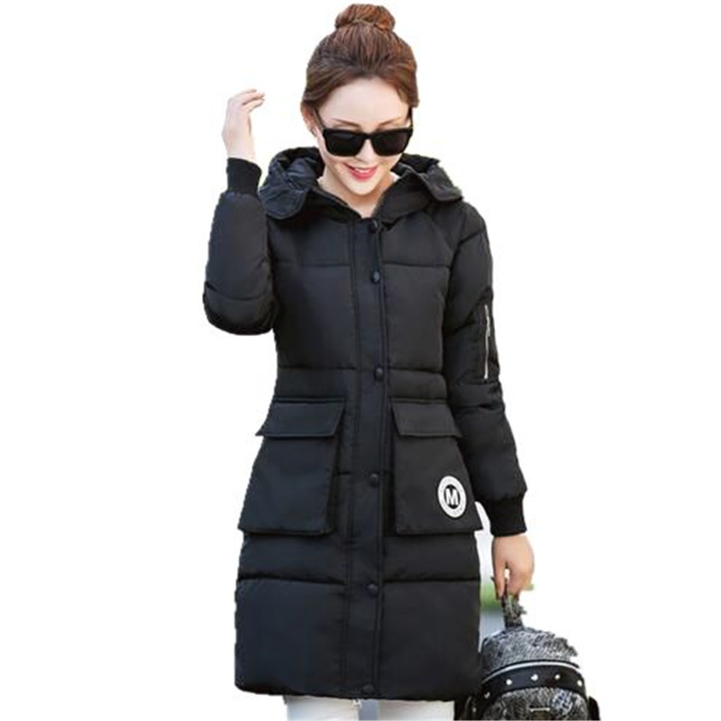 2016 New Winter Jackets Coats Big Yards Leisure Women Padded Jacket Fashion Hodded Jacket Thicken Long