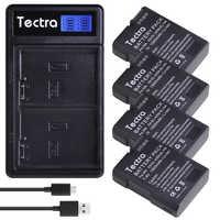 4 pièces 1500mAh EN-EL14 EN-EL14A ENEL14 Batterie pour Nikon D3100 D3200 D3300 D3400 D3500 D5600 D5100 D5200 P7000 + LCD Double Chargeur