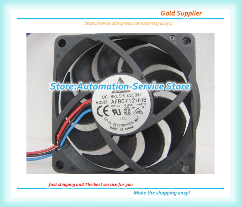 2pcs Delta AFB0712VHB 7015 <font><b>70mm</b></font> x 15mm DC Brushless <font><b>PWM</b></font> Cooler Cooling <font><b>Fan</b></font> 12V image
