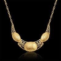 Golden Statement Pendent Unique Large Big Necklaces Pendants For Woman Gold Color Vintage Women Link Chain Collar