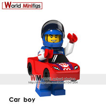 Single Sale Building Blocks Car boy Balloon girl Balloon boy Fire Dragon Racing man Flowerpot girl Cake boy Toy Kids(China)