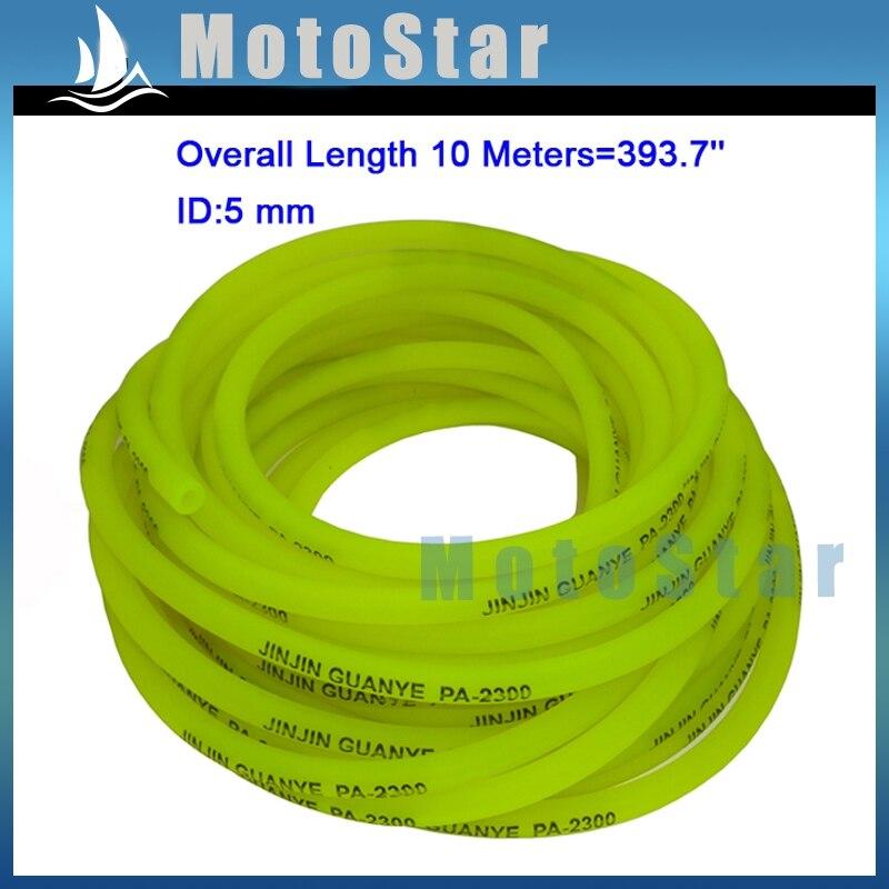 STONEDER geltonas 10 metrų 5 mm dujinių kuro žarnos linijos vamzdis su duobių varikliu dviračiu