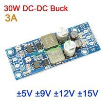 Tensão DC DC 30v do conversor do fanfarrão de dykb 30w 4.5 a positive 5v 9 9v 12 12v 15 15v 3a dupla fonte de alimentação da saída positiva à tensão negativa