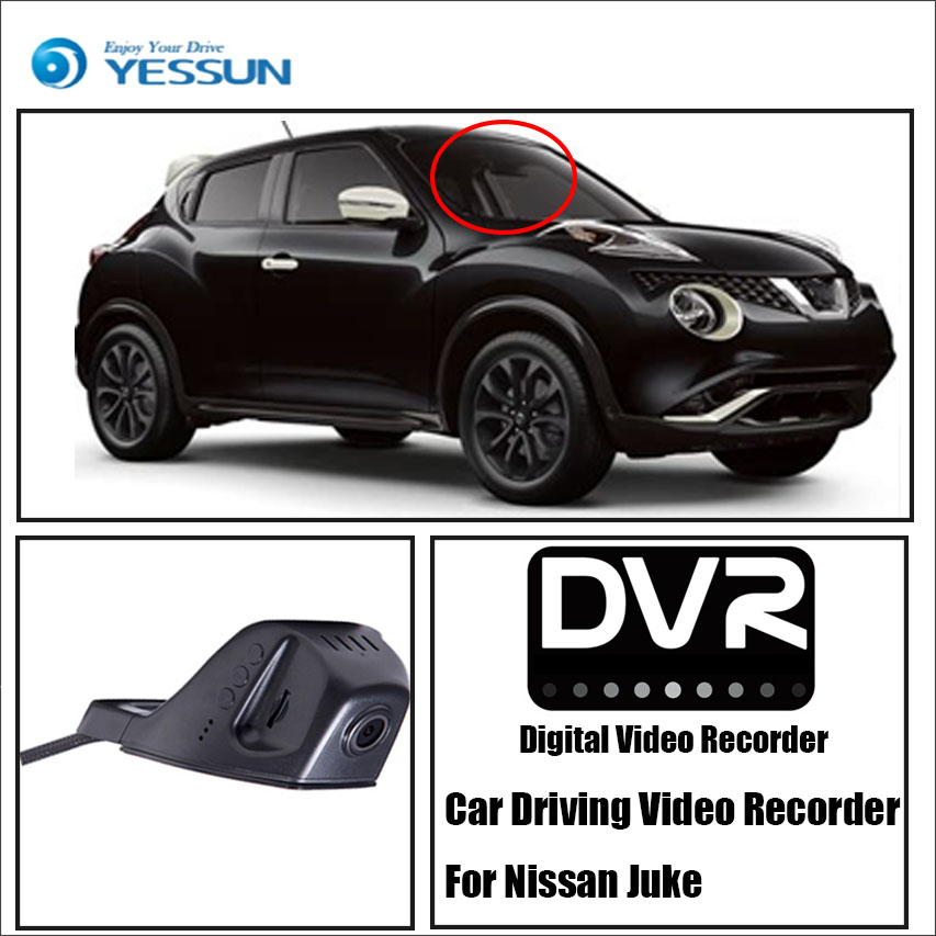 YESSUN For Nissan Juke Car Front Dash Camera CAM For iPhone Android APP Control Function / DVR Driving Video Recorder image