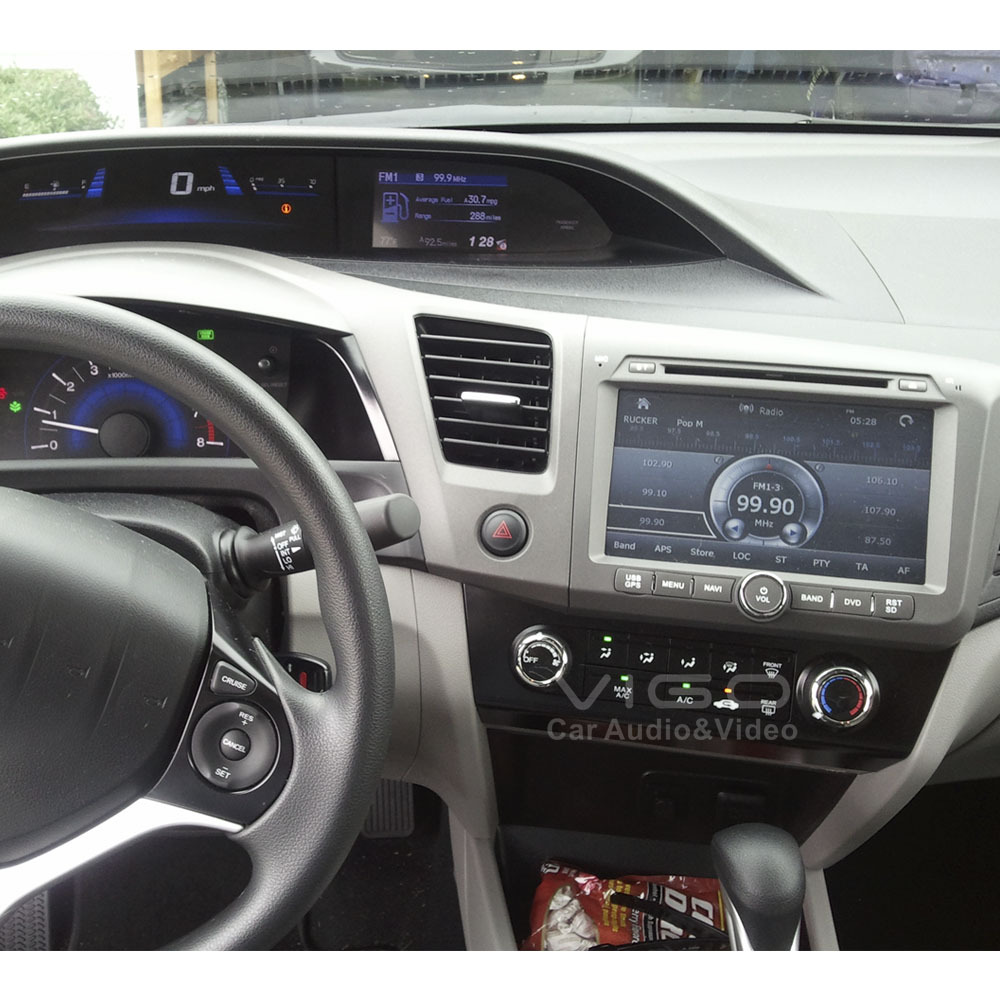 Vehicle stereo gps navigation for honda civic 2012 radio rds dvd player multimedia headunit sat nav autoradio bluetooth ipod usb in car multimedia player