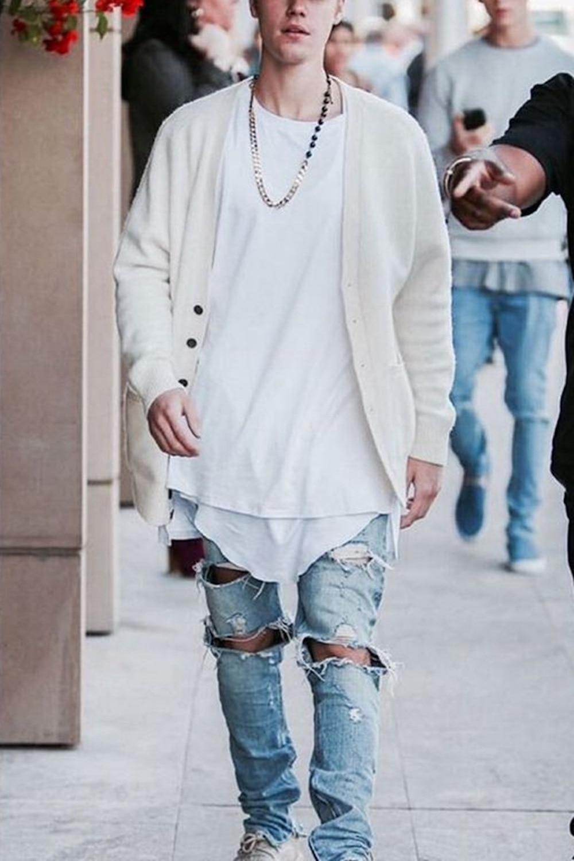 ФОТО Men's Hipster Hip Hop Biker Ripped Jeans Ankle Zipper Destroy Wash Whisker Denim Street Pants