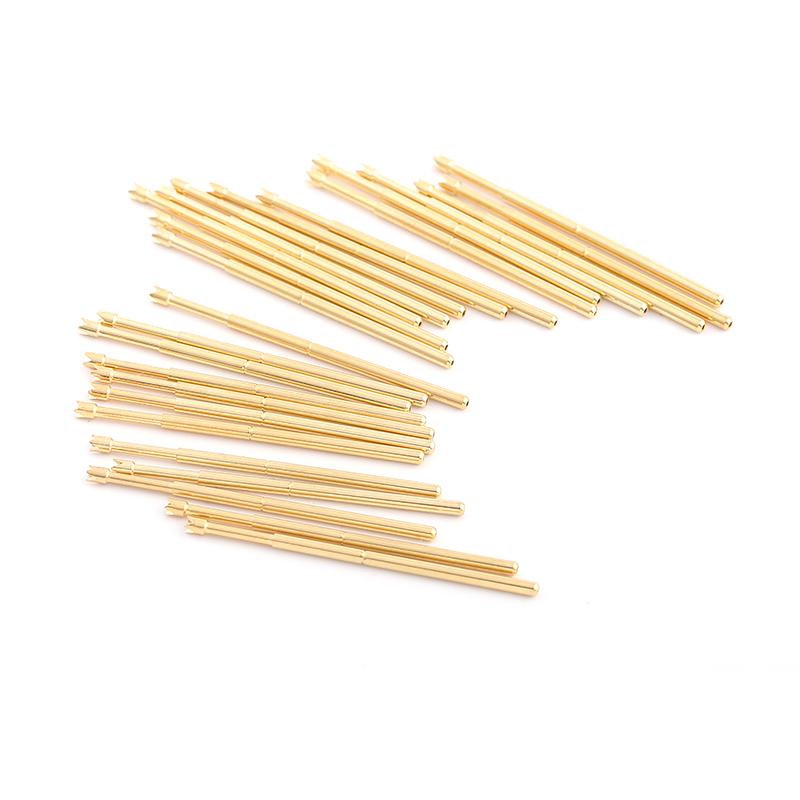 Safety Household Durable Brass Spring Test Probe PA100 Q2 Spring Test Probe 100 PCS Metal Test Probe Sleeve Length 33 35mm in Springs from Home Improvement