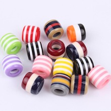 30Pcs/Lot multi coloured hair Beads and dreadlock Beads cuffs clips approx 6mm h