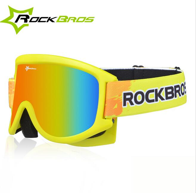 ROCKBROS Outdoor Goggles Bicycle Snow Ski Glasses Anti-Fog Protective Cycling PC Lenses TPU Frame Two Style For Adult And Child