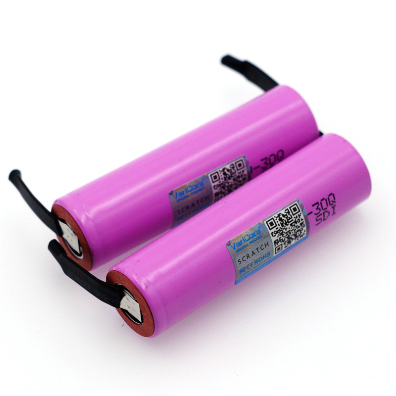 Image 3 - VariCore  New INR18650 30Q 18650 3000mAh lithium Rechargeable battery +DIY Nickel batteries-in Replacement Batteries from Consumer Electronics