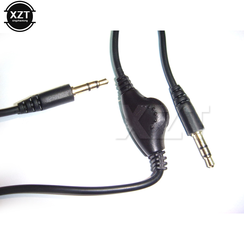 1M 3.5mm Male To 3.5 Male / Female Audio Extension Cable With Volume Control For Iphone 5 6 Plus Samsung Earphone
