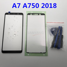 Originele Vervanging Externe Glazen voor Samsung Galaxy A7 2018 A750 A750F Lcd Touch Screen Voor Glas + Stickers & tool(China)