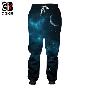 OGKB New Fashion Men/women Casual Full Length Pants Harajuku Galaxy Space 3D Printed Joggers Sweat Pants Hip Hop Sweatpants 5XL