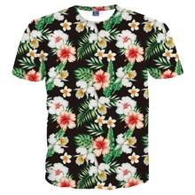 Newest Fashion T-shirt Men/Women 3d T shirt Print Green Leaves And Beautiful Flowers Tshirt Summer Tops Tees S-5XL R68