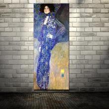 Знаменитая репродукция Густава Климта картина маслом спрей напечатанная на холсте настенный Декор Картина гостиная Искусство украшение