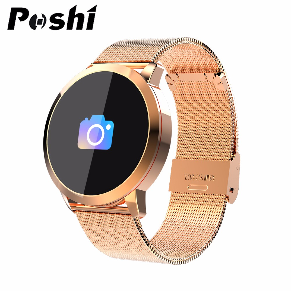 Smart Watch Sport Steel Strap Waterproof Pedometers Message Reminder OLED Bluetooth Outdoor Fitness Men Women For