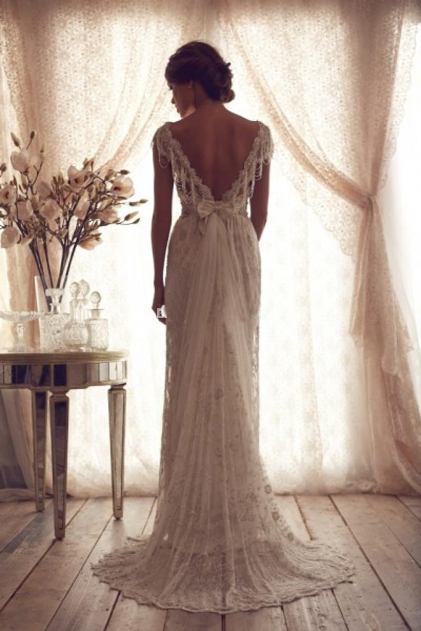 3b121720fde6 Attention It need another  30 for plus size dress. 2015 Svadobne Saty  Bohemian Style Sexy Backless Wedding ...