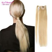 Human Hair Ponytail Hairpieces 7A Grade Brazilian Virgin Human Hair Long Straight Ponytail Unprocessed Ponytail Human Hair