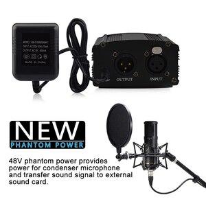 Image 4 - GEVO 48 В фантомный блок питания с адаптером ЕС 3 м аудио XLR кабель для конденсаторного микрофона студийное музыкальное голосовое оборудование для записи
