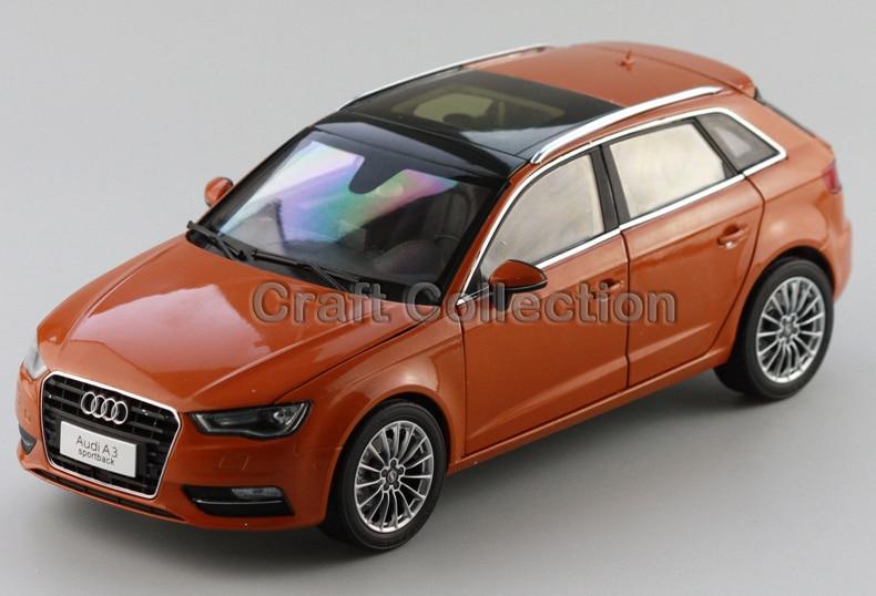 * Orange 1:18 A3 Sportback SUV 2014 High-end Metal Model Car Diecast Vehicle Parts Several Colors Hatch back