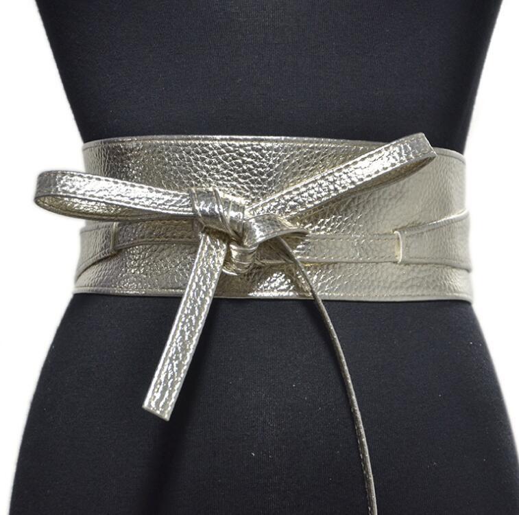 Women's Runway Fashion Pu Leather Cummerbunds Female Dress Corsets Waistband Belts Decoration Wide Belt R1377