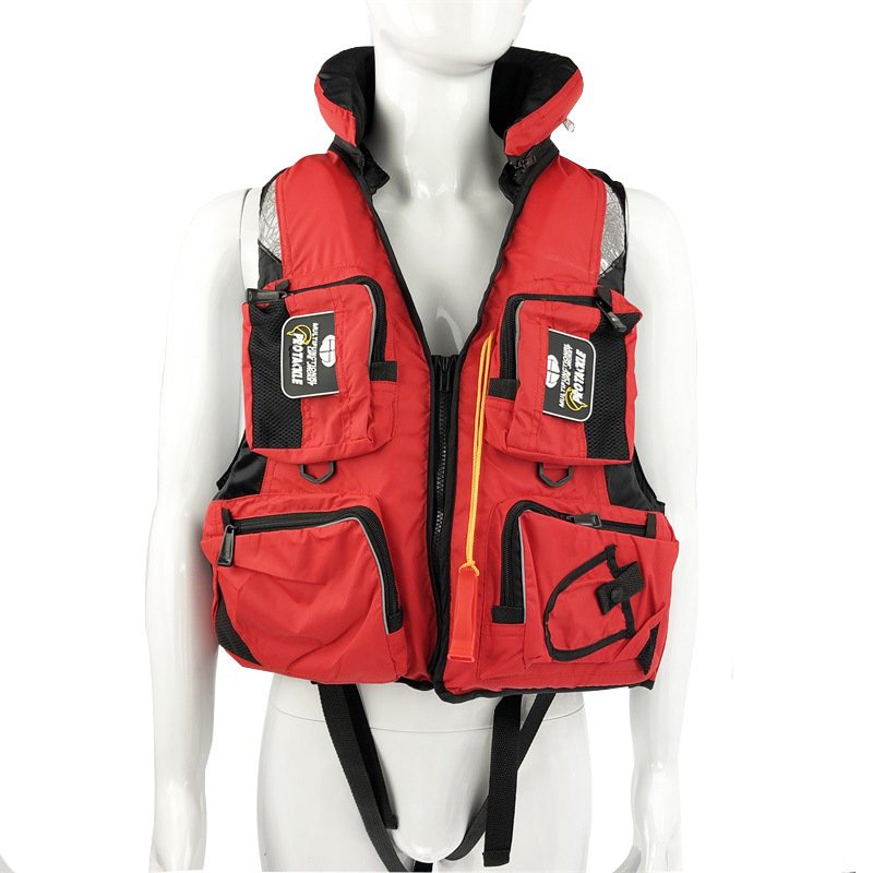 Image 3 - Fishing Vest Adjustable Portable Mutil Pocket Outdoor Sport Life Safety Jacket Cycling Swimming Sail Fishing Clothes-in Fishing Vests from Sports & Entertainment