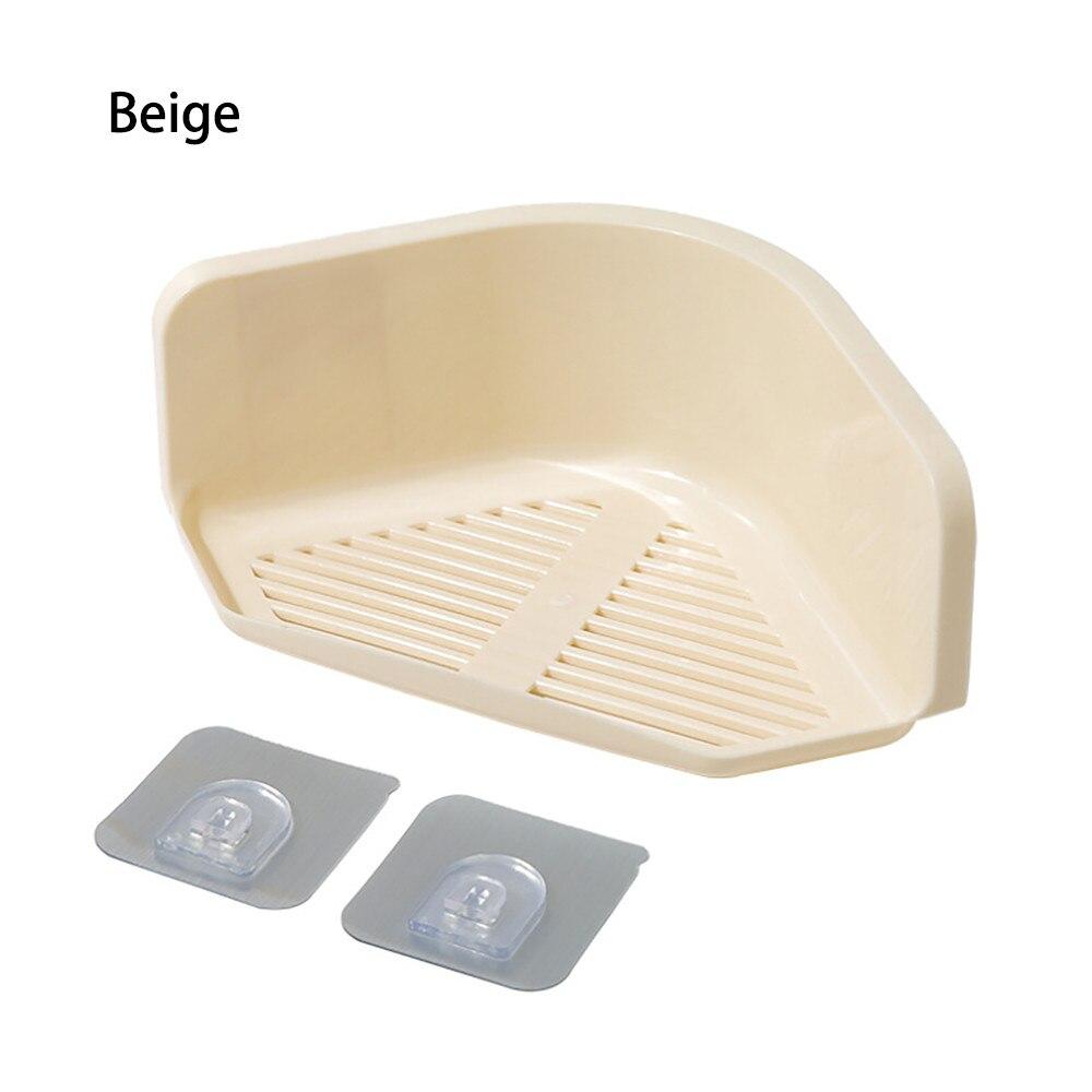 1pc Plastic Suction Cup Bathroom Kitchen Corner Storage