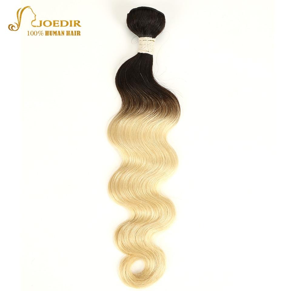 Joedir Hair Pre-Colored Brazilian Remy Hair Body Wave Human Hair Weave Bundle Deal T1B 613 Lingest Blonde Ombre Hair Bundles