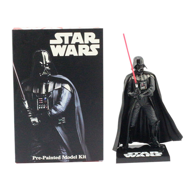 High quality Star Wars Darth Vader 20cm Action Figure Toy Soldiers Pre-Painted Model Kit Gift Free Shipping free shipping super big size 12 super mario with star action figure display collection model toy