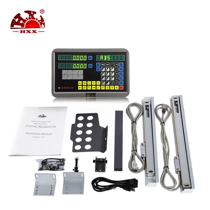 Профессиональный HXX измерительные инструменты gcs900 2d 2 оси УЦИ Комплект и два предмета 5u линейная шкала 50 1000 мм для фрезерования /токарный ста