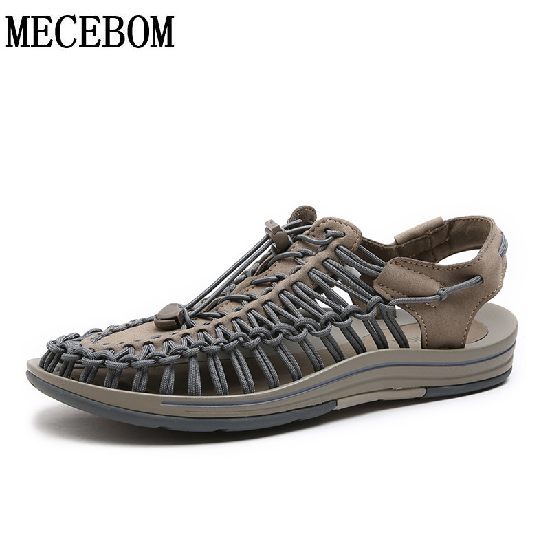 2018 New Summer Men Sandals fashion weavings design breathable casual men beach sandals quality men shoes size 38-44 1998m