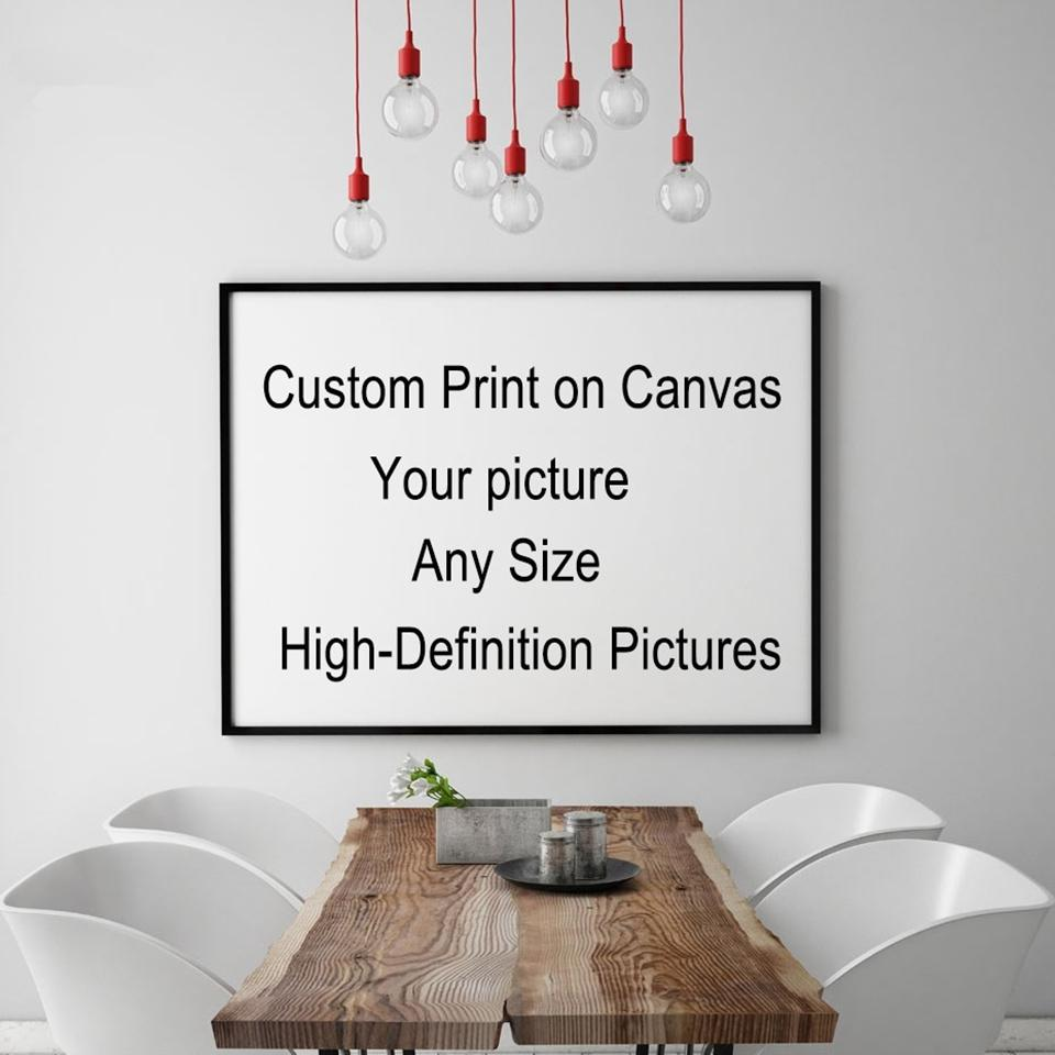 TD2 Custom Your Picture,Family or Baby Photo,Favorite Image, Personalized Pictures , Custom Print on Canvas Painting Room Decor