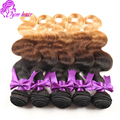 10A Peruvian Body Wave Ombre Hair Extensions 12 - 22 inch Peruvian Ombre Hair 3 Tone #1B/4/27 4 Bundles Ombre Human Hair Weave