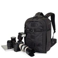 """Genuíno lowepro pro runner 450 aw urban inspirado foto saco da câmera digital slr portátil 17 """"mochila com capa de chuva"""