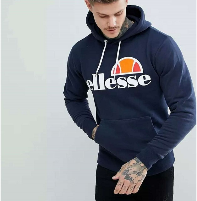 2018 New Fashion Men/Women Ellesse Graphic Lace Up Hooded Sweatshirt Brand Warm Hoody Unisex harajuku Hip Hop Long Sleeve S-4XL