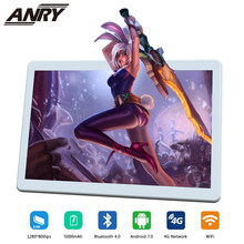 ANRY 2019 nuevo 10 pulgadas tablet PC 4G LTE Android 7,0 Octa 8 Core 4 GB RAM 64 GB ROM WiFi GPS 10,1 IPS 1280*800 batería de 5000 mAh(China)