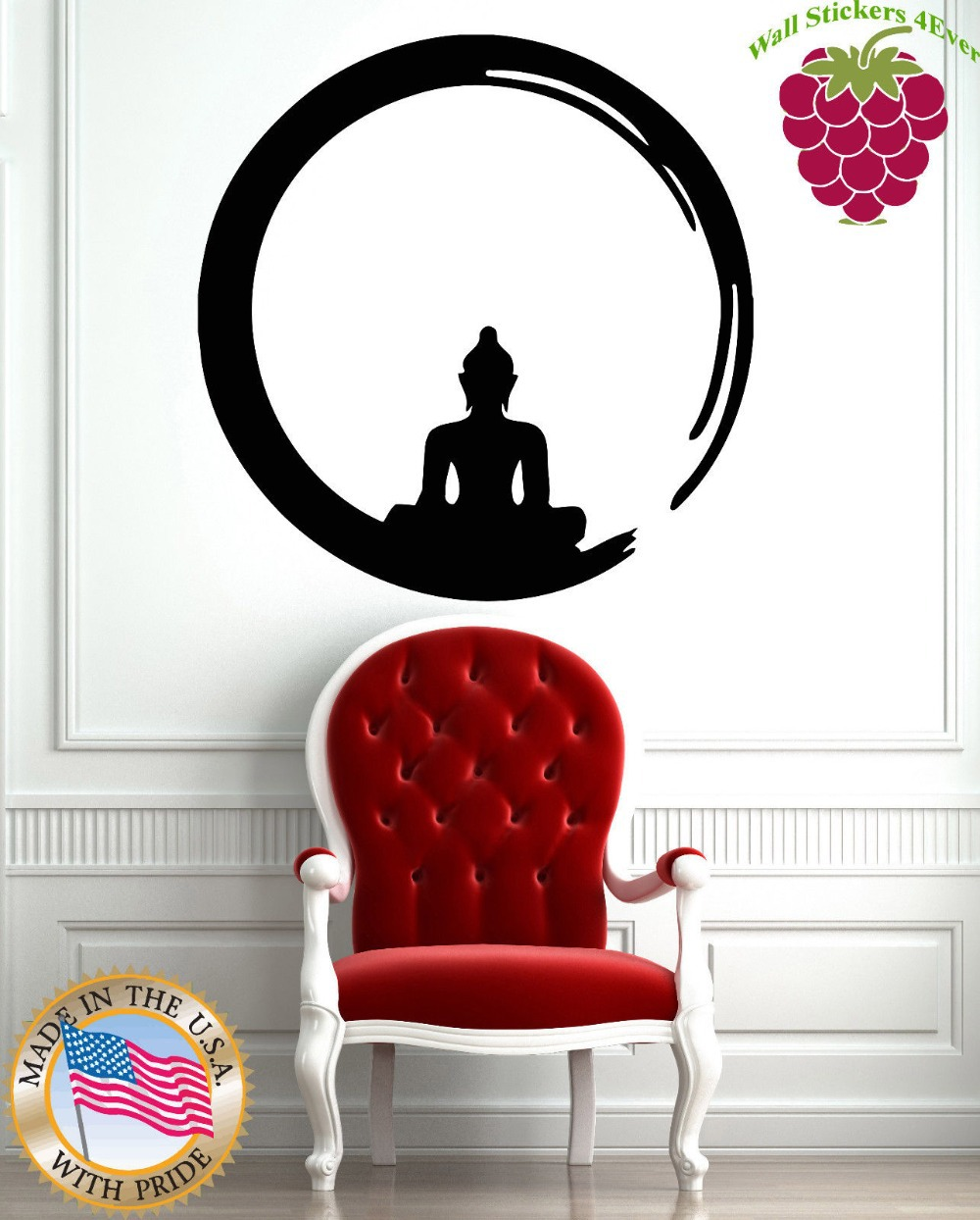 Wall stickers vinyl decal buddha zen meditation mantra yoga enso wall stickers vinyl decal buddha zen meditation mantra yoga enso circle in wall stickers from home garden on aliexpress alibaba group amipublicfo Gallery
