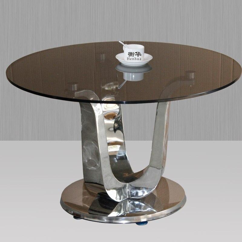 Compra mesa redonda de vidrio online al por mayor de china for Vidrio templado mesa