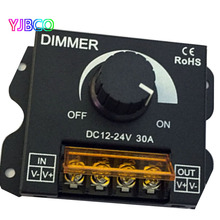 LED Dimmer Brightness Lamp Bulb tape Driver 5050 3528 Single Color Lights Power Supply Controller 360W 30A DC12V-24V