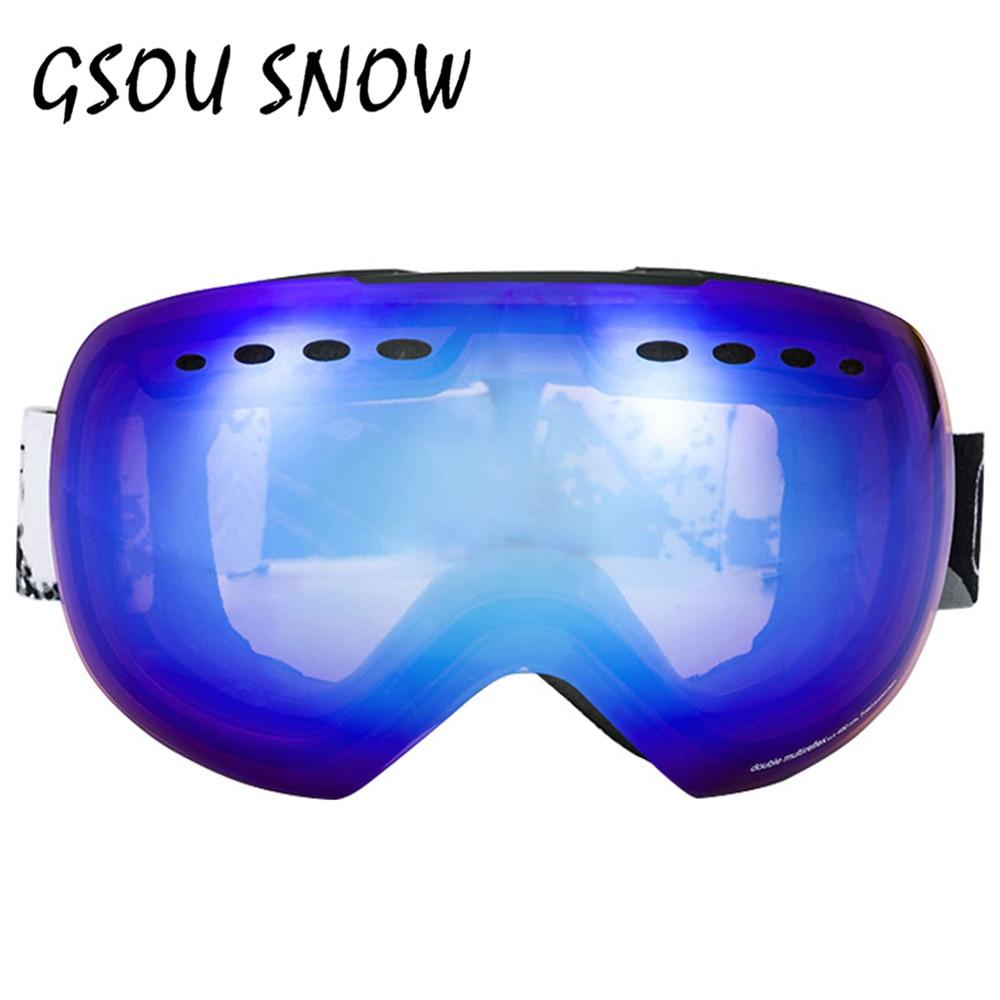 Prix pour GSOU NEIGE Ski Googles Pour Hommes et Femmes En Plein Air Multicolore Snowboard Googles Hiver Professionnel Unisexe Neige Ski Sports Verre