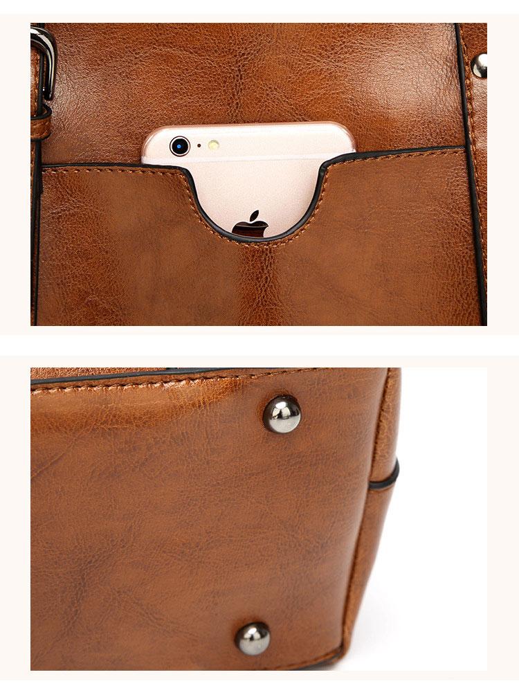 Genuine leather Women Tote handbags 20