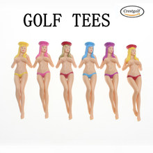 CRESTGOlf Style 6pcs/pack size 75mm(2.95inch) Sexy Bikini Lady Golf Tees Gift Newest Design Plastic Golf Tees Golf Accessories(China)