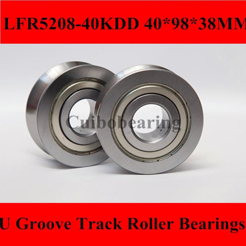 1PCS LFR5208-40 LFR5208 Groove Track Roller Bearings size:40*98*38mm