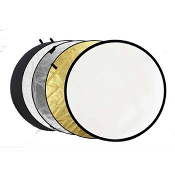 60cm 5 w 1 przenośny składany świetlny okrągły reflektor do zdjęć do studia Multi Photo Disc tanie i dobre opinie CN (pochodzenie) 60cm-5in1 ROUND 0 24