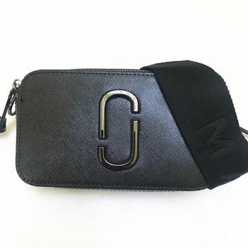 e89e68a64800a 2019 yeni kamera çantası geniş omuz askısı karışık renk küçük kare çanta  kadın deri el çantası çift fermuar küçük omuzdan askili çanta M