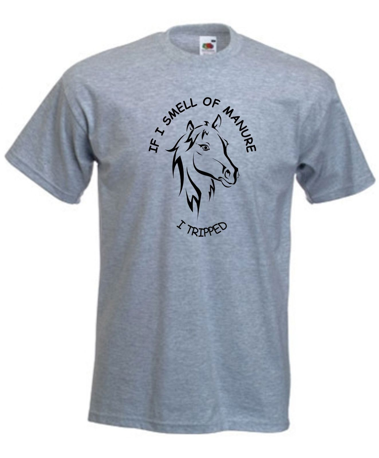 HORSERIDING IF I SMELL OF MANURE T SHIRT FUNNY HORSE RIDING TSHIRT UNISEX S XX Funny Tops Tee New Unisex Funny free shipping in T Shirts from Men 39 s Clothing