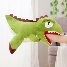 6 Styles Kawaii Down Cotton Plush toys Pillow Soft Hand Warmer Stuffed Dinosaur Stitch Cartoon Animal dolls for children Gift