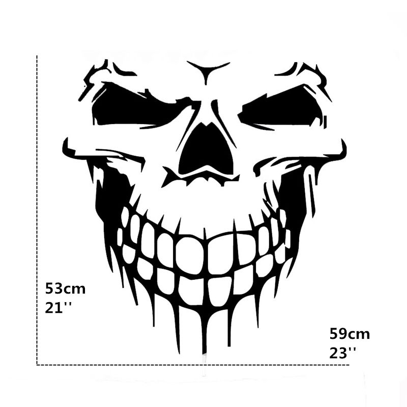 Terrible Shape Skull Skeleton Funny Car Sticker For Suv Door Kayak